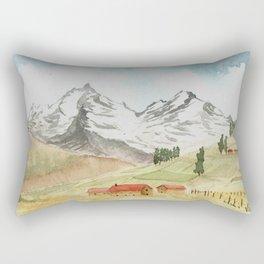 A Highland Village Rectangular Pillow