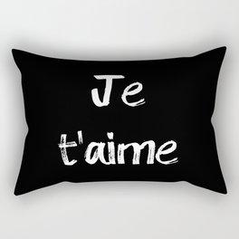 Je t'aime Black Rectangular Pillow