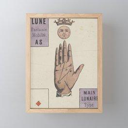 Vintage French Moon Tarot Card Framed Mini Art Print