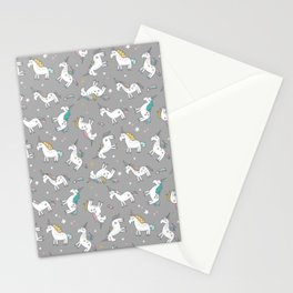 Unicorn Pattern | Mythical Creature Rainbow Horse Stationery Cards