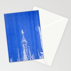 Night of Blue over Milan Stationery Cards