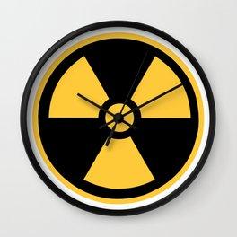 Nuclear Logo Symbol Wall Clock