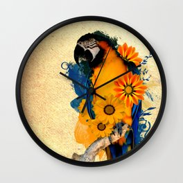Colorful Parrot Wall Clock