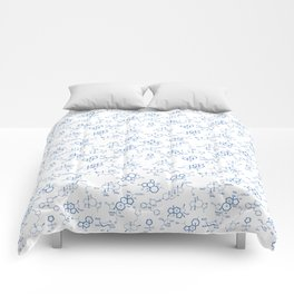Blue Molecules Comforters