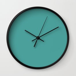 Lagoon Aqua Green - Color of The DayLagoon Aqua Green - Color of The Day Wall Clock