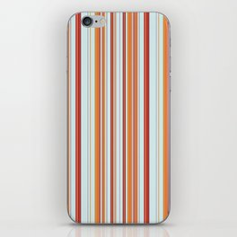 Combined Stripe Pattern - Clear Sailing Colorway iPhone Skin