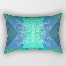 TURQUOISE BLUE PATTERN-19B Rectangular Pillow