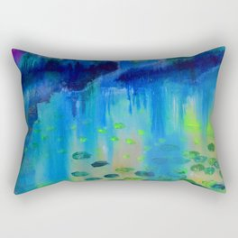 Lily Pads in the Misty Cove Rectangular Pillow