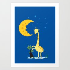 The Delicious Moon Cheese Art Print