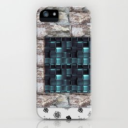 textures for the interior grey blue color iPhone Case