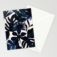 Tropical Leaves - Midnight Stationery Cards