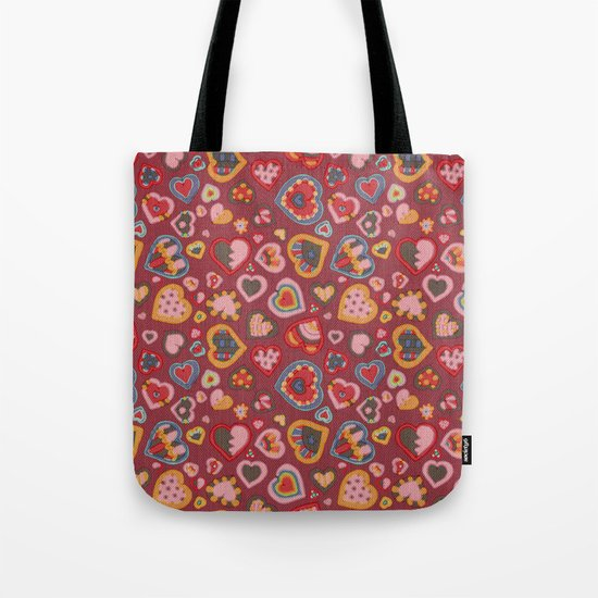 I Heart Patterns Tote Bag