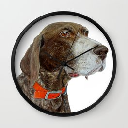 Anja the German Shorthair Pointer Wall Clock