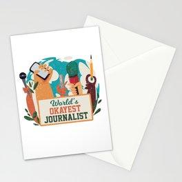 Worlds Okayest Journalist Journalism Writer Gift Stationery Cards