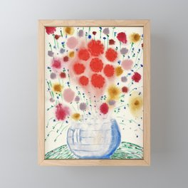 Flower Fireworks Framed Mini Art Print