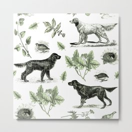 BIRD DOGS & GREEN LEAVES Metal Print