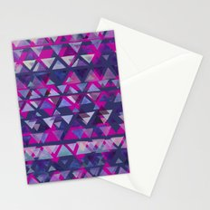 Pink and Purple Triangles Stationery Cards