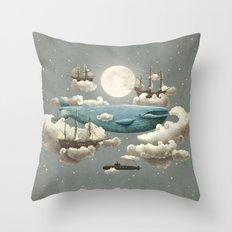 Ocean Meets Sky Throw Pillow