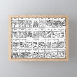 Veggie Seeds Patten - Line Art Framed Mini Art Print