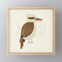 Laughing Kookaburra, Bird of Australia Framed Mini Art Print