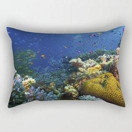 Coral Sea Photo Print Rectangular Pillow