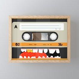 The cassette tape golden tooth Framed Mini Art Print