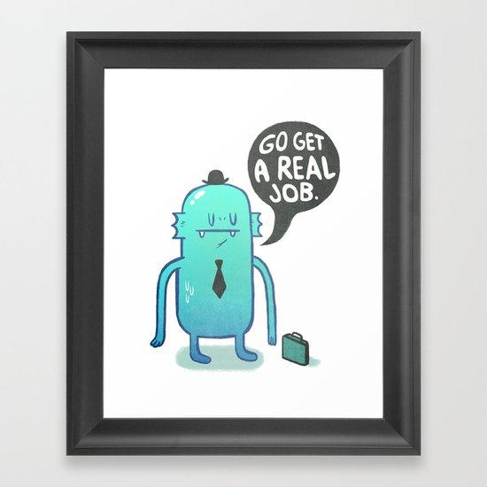 Job Hunt Framed Art Print