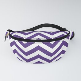 Indigo Purple Chevrons Pattern Fanny Pack