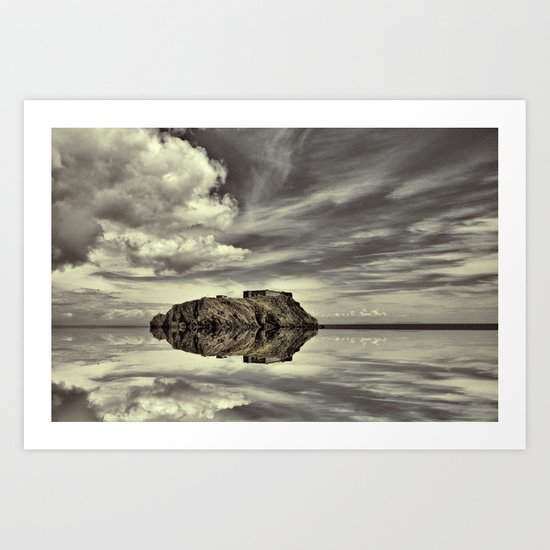 Reflections of Tenby Art Print