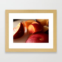 Plums for Breakfast Framed Art Print