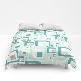 Retro Squares Mid Century Modern Background Comforters