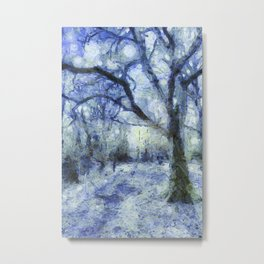 Blue Forest Van Gogh Metal Print