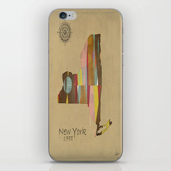 new york state map iPhone & iPod Skin