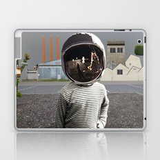 Space Kid in illusion City Laptop & iPad Skin