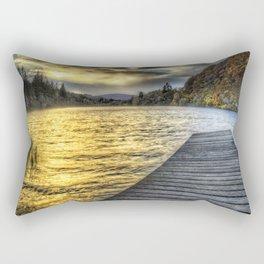 Loch Ard Jetty at Sunset Rectangular Pillow