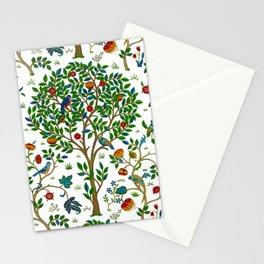 William Morris Tree of Life Pattern, Green & Multi Stationery Cards
