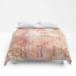 From Paris With Love In Salmon-Rosé Comforters