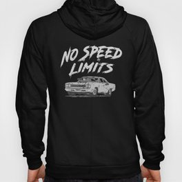 No Speed Limits Fast Tuned Engines Hot Rods Gray Hoody