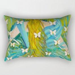 The Butterfly Girl Rectangular Pillow
