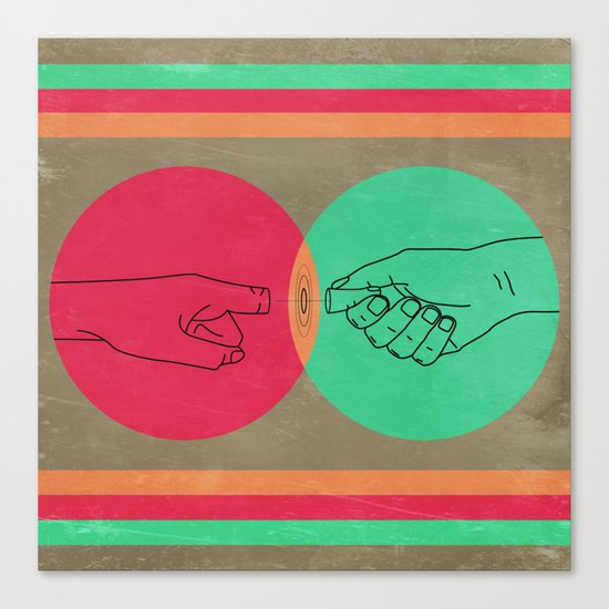 Pull your finger out  Canvas Print