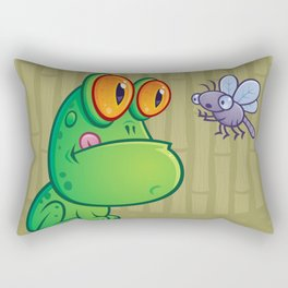Frog and Dragonfly Rectangular Pillow