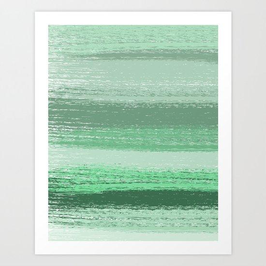 Stripey Mint Art Print