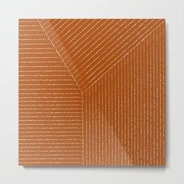 Lines (Rust) Metal Print