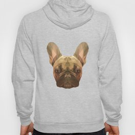French bulldog puppy low poly. Hoody