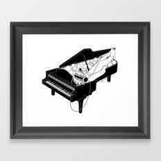 Turn on the music, Turn off your mind Framed Art Print