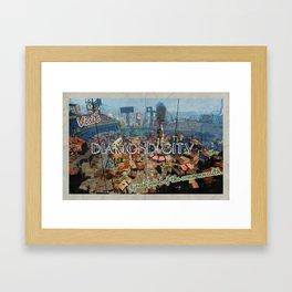 "Vintage Travel Diamond City ""postcard"" Framed Art Print"