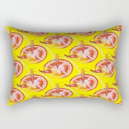 Veggie Pattern Rectangular Pillow