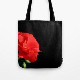 Red on black Tote Bag