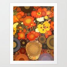 Gramma's Flowers Art Print