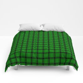 Small Green Weave Comforters